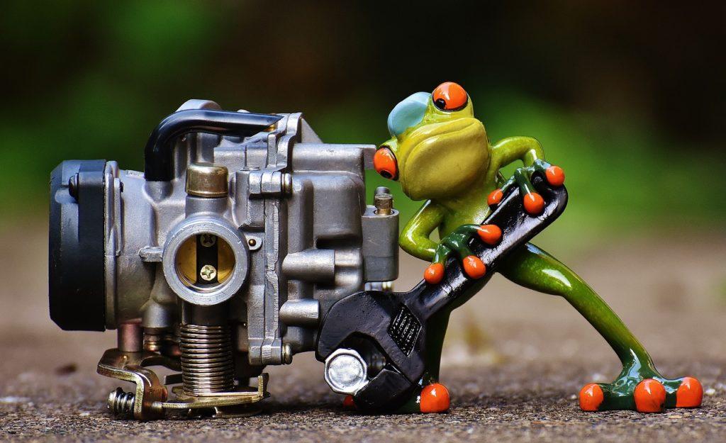 frog, mechanic, screwdrivers